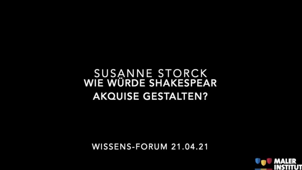 """Wissens-Forum """"Wie würde Shakespeare die Akquise gestalten?"""""""