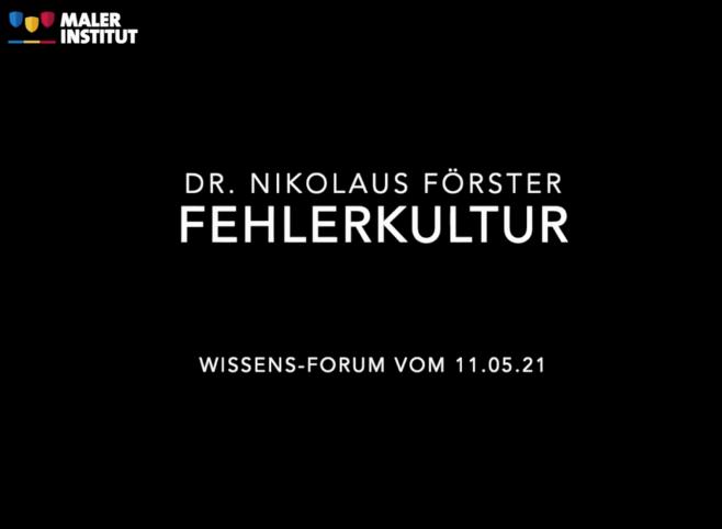 """Wissens-Forum """"Fehler als Chance"""""""